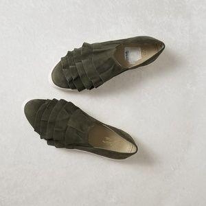 Seychelles Suede Ruffled Slip on Sneakers
